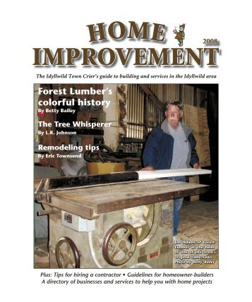Forest Lumber's colorful history - Idyllwild Town Crier