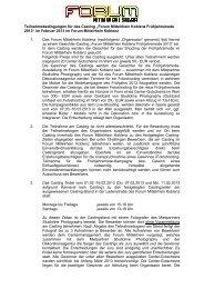 """Teilnahmebedingungen für das Casting """"Forum Mittelrhein Koblenz ..."""