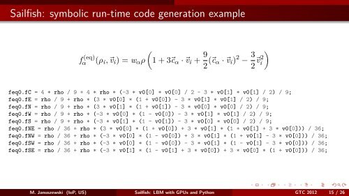 Sailfish: Lattice Boltzmann Fluid Simulations with GPUs and Python