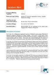 Description of Incident - ReCAAP