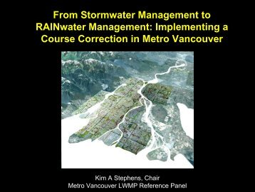 From Stormwater Management to RAINwater Management ...