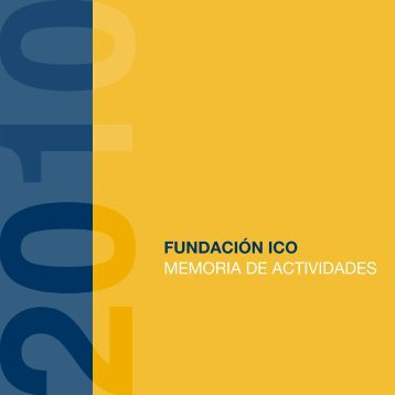 Memoria de actividades - Fundación ICO