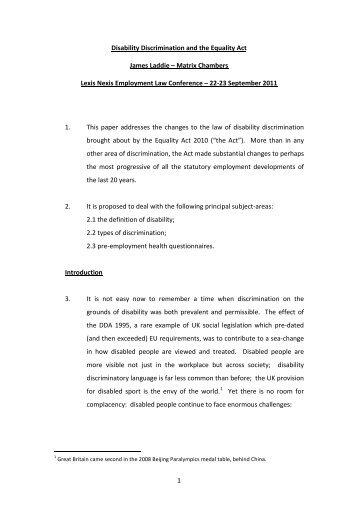 disability discrimination act 2005 pdf