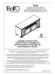 assembly instructions instructions d'assemblage ... - Bell'O