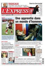 littorall'express / lundi 15 septembre 2008 - Arcinfo.ch