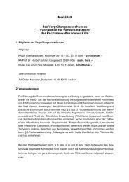 Fachanwalt für Verwaltungsrecht - Rechtsanwaltskammer Köln