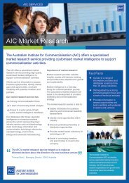 View the market research factsheet - The Australian Institute for ...