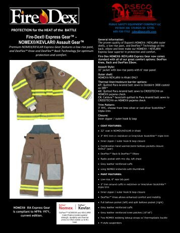 fire-dex product brochure - Public Safety Equipment Company LLC