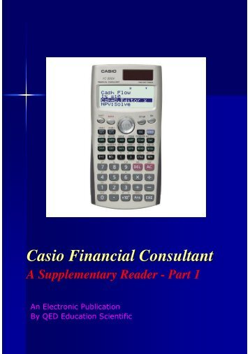 CASIO Financial Consultant: A Supplementary Reader - Part 1