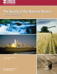 U.S. Geological Survey, 1999, The quality of our nation's ... - the USGS
