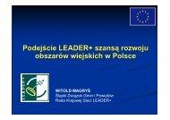 Podejście Leader szansą rozwoju obszarów wiejskich w Polsce