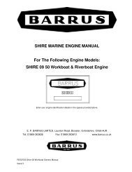 Shire Owners' Manual (09 Build) 50 Workboat ... - EP Barrus