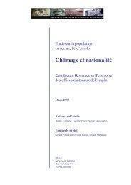 Chômage et nationalité Conférence Romande - Etat de Genève