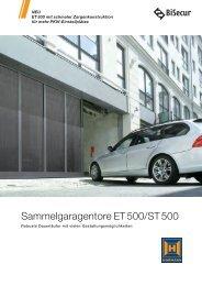 Sammelgaragentore ET 500/ST 500 - Hörmann KG