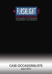 Occasionsliste Case April 2013 - Flashlight