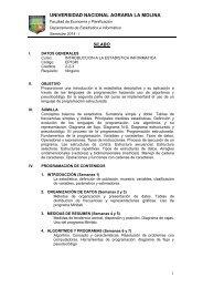 Silabo 2013-1 - Universidad Nacional Agraria La Molina