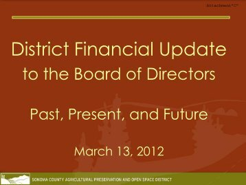 District Financial Update - Sonoma County Agricultural Preservation ...