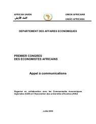 departement des affaires economiques - African Union