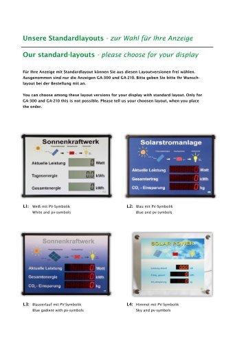 zur Wahl für Ihre Anzeige Our standard-layouts - RiCo Electronic