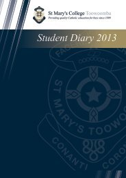 to download the Student Diary as a PDF. - St Mary's College