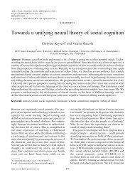 Towards a unifying neural theory of social cognition