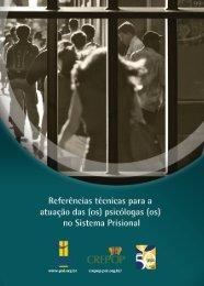 (os) no Sistema Prisional - CREPOP - Conselho Federal de Psicologia