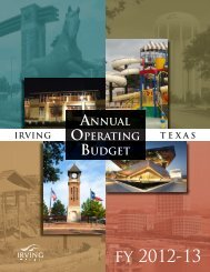 fy 2012-13 - City of Irving, Texas