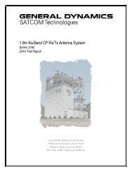 Series 3180 Ka-Band CP Rx/Tx - General Dynamics SATCOM ...