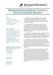 Destaque Informativo Dinâmicas demográficas e sociais - Câmara ...
