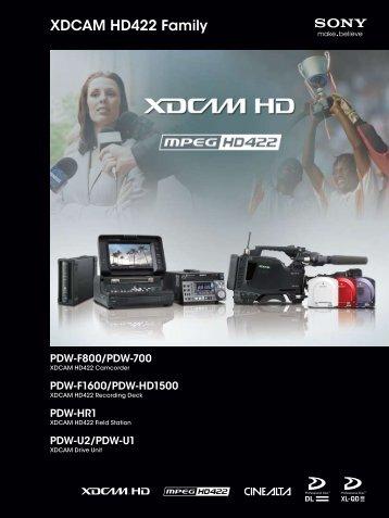 XDCAM HD422 Family - Sony
