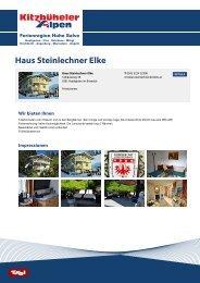 Haus Steinlechner Elke - Ferienregion Hohe Salve