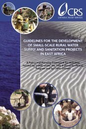 Guidelines for the Development of Small-Scale Rural Water Supply