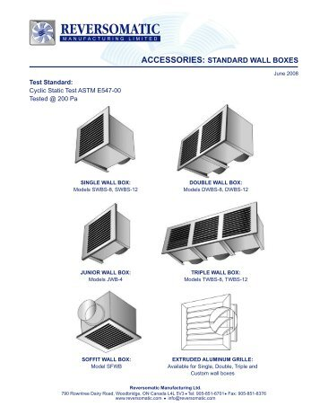 Leak proof fresh air intake wall box reversomatic standard wall boxes reversomatic ccuart Image collections