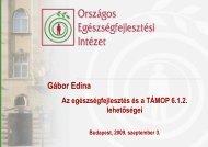 GaborEdina TÁMOP 6.1.2_090903 [Kompatibilitási mód] - Országos ...