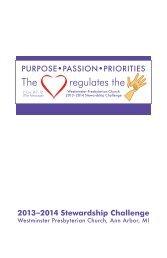 2013-14 stewardship brochure.pdf - Westminster Presbyterian Church