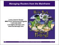 Router Management from the Mainframe - Laura Jeanne Knapp