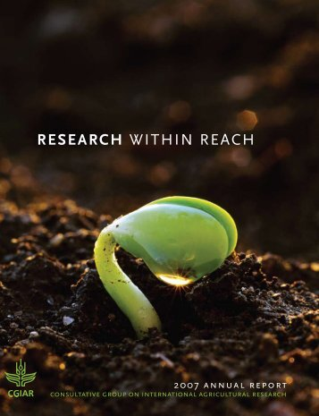 RESEARCH WITHIN REACH - CGIAR Library