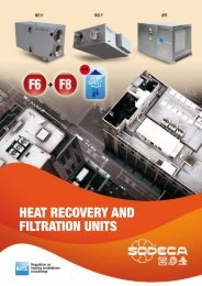 HEAT RECOVERY AND FILTRATION UNITS - Sodeca