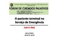 O Paciente Terminal no Serviço de Emergência - Dr.Luiz ... - Cremers
