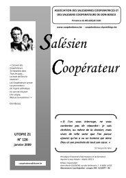 UTOPIE 21 n°126 - janvier 2009 - Coopdonbosco