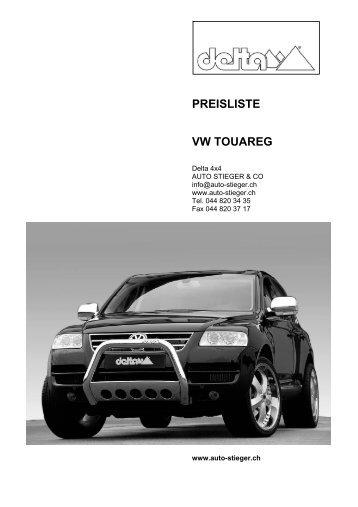 PREISLISTE VW TOUAREG - Auto-Stieger