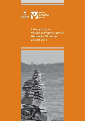 Letno poročilo Varuha človekovih pravic Republike Slovenije za leto ...