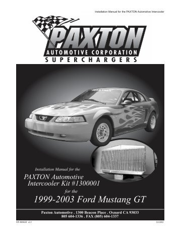 1999-2003 Ford Mustang GT - Paxton Superchargers