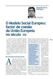 O Modelo Social Europeu: factor de coesão da União ... - Infoeuropa