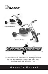 Owners' manual for Scream Machine ver4b w Jr cover.qxd