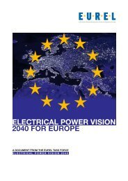 ELECTRICAL POWER VISION 2040 FOR EUROPE - eurel