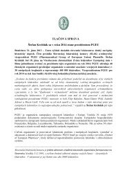 Tlačová správa - Slovenská lekárnická komora