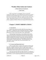 Chapter 2: Point Observations - Department of Atmospheric Sciences