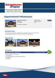 Appartement Hetzenauer - Ferienregion Hohe Salve