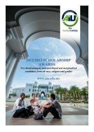 2012/2013 scholarship awards - Albukhary International University
